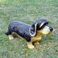 Deko Hund # HUNDEFIGUR # RAUHAARDACKEL # Hund