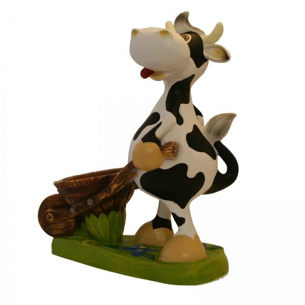 Kuh \'Emma\' mit Schubkarre zum Bepflanzen Garten & Terrasse Pflanzkübel