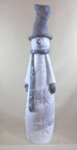 Dekofigur großer Schneemann 100 cm # Weihnachtsdeko # Winterdeko # wetterfest
