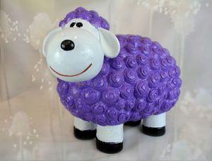 Süßes Deko-Schaf XL für den Garten - LILA