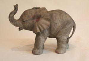 Deko Figur stehender Elefant # Glücksbringer # wetterfest