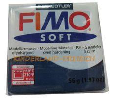 FIMO® SOFT Windsorblau Farb-Nr. 35 - Modelliermasse ofenhärtend, 56 g – Bild 1