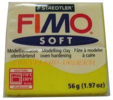 FIMO® SOFT Limone Farb-Nr. 10 - Modelliermasse ofenhärtend, 56 g