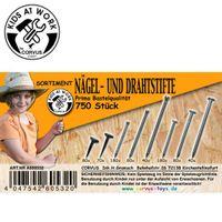 Nägel, Drahtstifte, 750 Stck. / Bastelwerkzeug  / Basteln