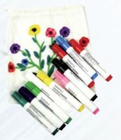 10er Set Textilstifte / Stoffmalstifte / 10 Farben
