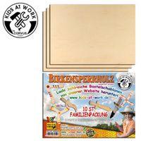 10 x SPERRHOLZ-Platten zum Aussägen / Basteln (Birke) – Bild 1