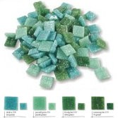 JOY-Mosaik, Mosaiksteine - Grün-Mix 20x20x4 mm, 200 g – Bild 1