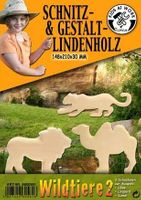 Schnitzholz Wildtiere 2, groß - Astfreies Lindenholz - Basteln / Schnitzen