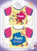 T-Shirt Happy Birthday Nr. 2 - Schneidern mit Grußkarte - Dress Your Doll