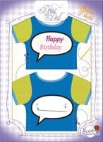 T-Shirt Happy Birthday Nr. 3 - Schneidern mit Grußkarte - Dress Your Doll