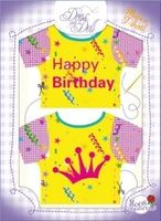 T-Shirt Happy Birthday Nr. 4 - Schneidern mit Grußkarte - Dress Your Doll