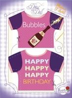 T-Shirt Happy Birthday Nr. 5 - Schneidern mit Grußkarte - Dress Your Doll