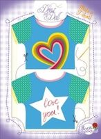 T-Shirt Love You / Liebesgrüße Nr. 9 - Schneidern mit Grußkarte - Dress Your Doll