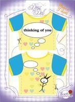 T-Shirt Thinking of You / Liebesgrüße Nr. 10 - Schneidern mit Grußkarte - Dress Your Doll