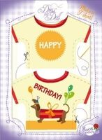 T-Shirt Happy Birthday Nr. 16 - Schneidern mit Grußkarte - Dress Your Doll
