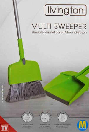 MediaShop Kehrgarnitur Livington Multi Sweeper Allround Besen – Bild 1