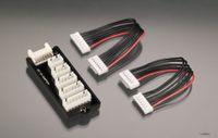 Zum Anschluss von 2-6 S LiPo-Akkus mit JST-H Voltage-Sensorkabeln (Lama, G47, Align)  an robbe Equalizer oder Ladegeräte mit Equalizer.
