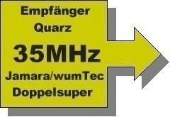 35 MHz Kanal 71 Doppelsuper-Quarz für Empfänger
