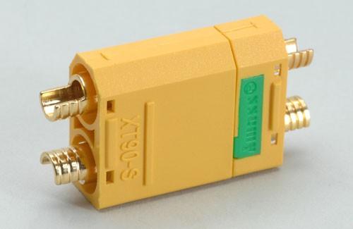 XT90S Anti Blitz 1 Paar Stecker Buchse - 90A Hochstrom Lipo Goldstecker