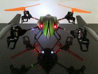 Quadrocopter AIR ONE V2 6-Achsgyro, LED, Koffer, 2,4GHz Sender Mode 1 bis 4 Bild 3