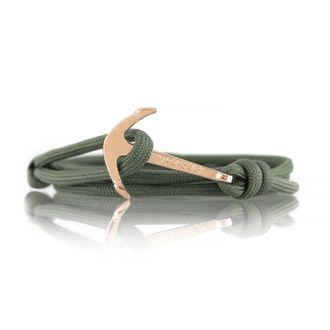 Anker Armband Military Green Grün Modeschmuck Unisex Maritim 001