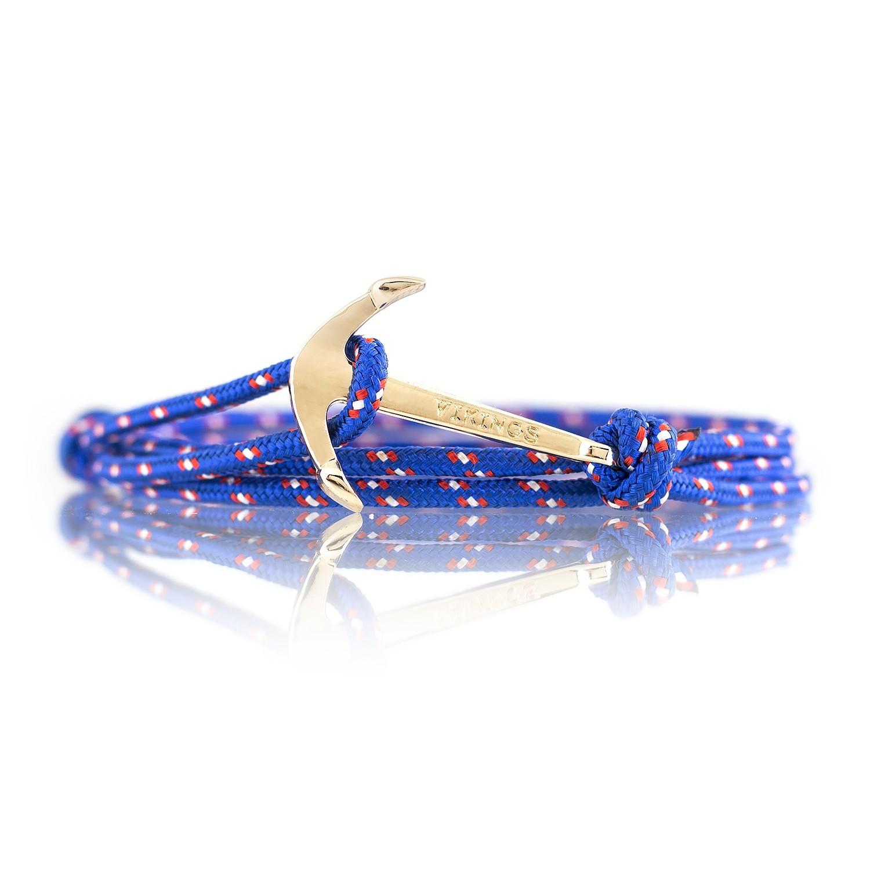 Modeschmuck armband  Anker Armband Deep Sea Blau Weiss Rot Modeschmuck Unisex Maritim