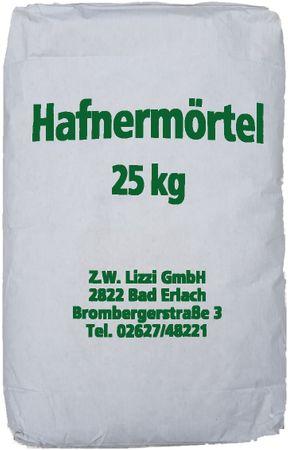 Lizzi Hafnermörtel 25 kg Schamottemörtel Lehmmauermörtel Lehm  Lehmmörtel Ofenlehm  – Bild 2