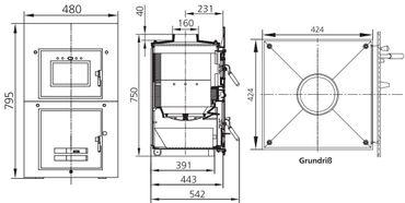 Ortrand 3020.6/1 Heizeinsatz 8,5 kW – Bild 2