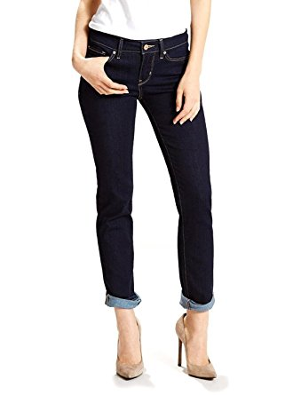 Levis Damen Jeans 712 Slim Fit Dark Blue Mid Rise Stretch Lone Wolf 18884-0025