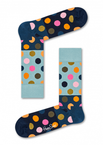 Happy Socks Big Dot Block Socken
