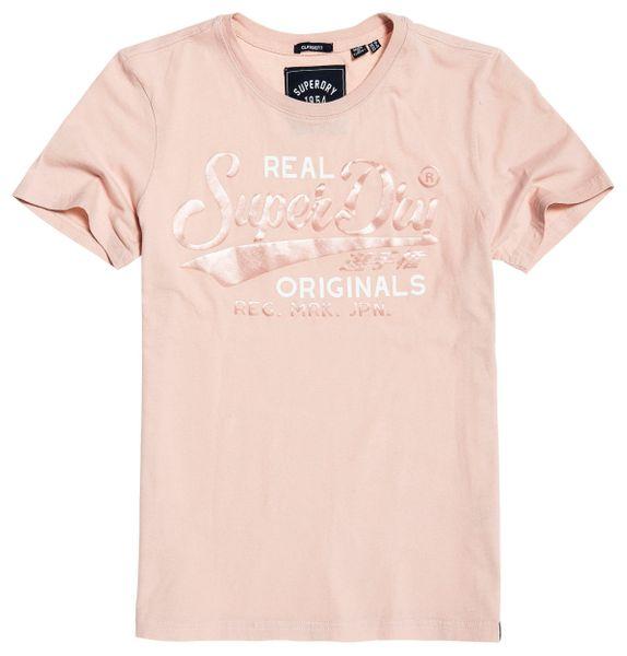 Superdry Real Originals Satin Entry Tee Damen T-Shirt