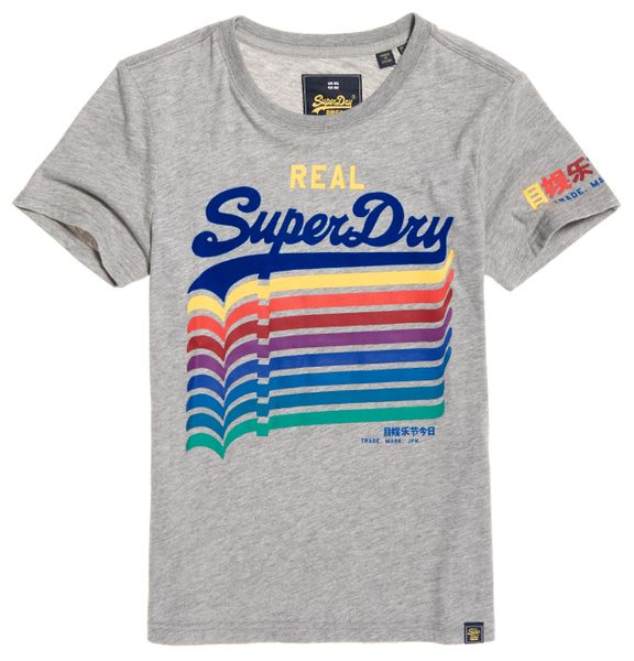 Superdry Vintage Logo Repeat Rainbow Damen T-Shirt
