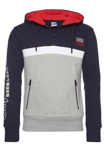 Superdry Crafted Block Halb Zip Herren Hoodie