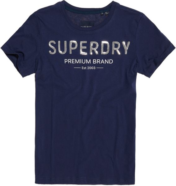 Superdry PREMIUM SEQUIN ENTRY TEE Damen T-Shirt