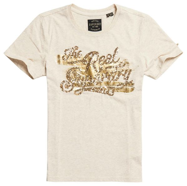 Superdry The Real Foil Sequin Entry Tee Damen T-Shirt