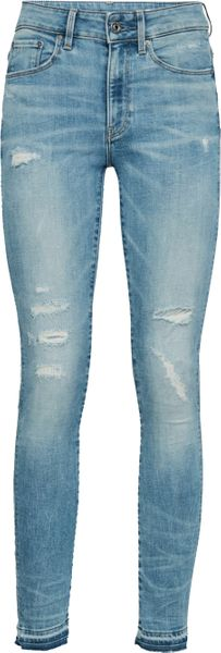 G-Star 3301 High Skinny Ripped Ankle Damen Jeans