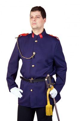 Uniformjacke mit Gürtel blau