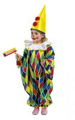 Bunter Clown Overall Kinderkostüm