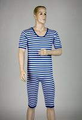 Ringelbadeanzug blau/weiß oder rot/weißKarneval Fasching