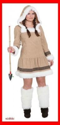 Eskimo Girl de Luxe Kleid mit Kapuze ohne Stulpen
