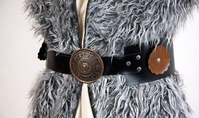 Wikingergürtel mit Metallschnalle, ca. 130 cm