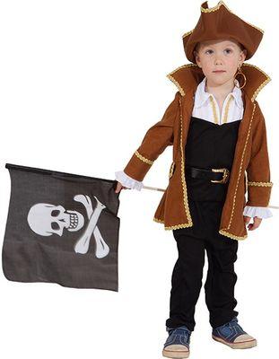Pirat braun Jacke Hut
