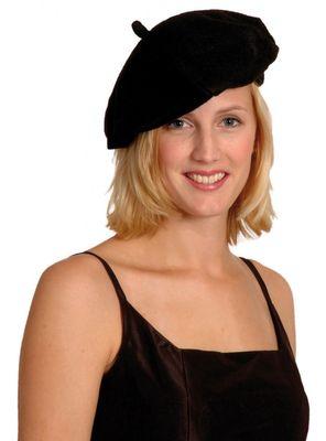 Baskenmütze, schwarz