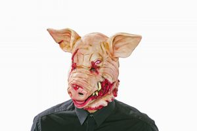 Latexmaske blutiges Schwein