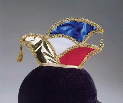 Elferratsmütze 4-farbig + Goldlitze Damenkomitee