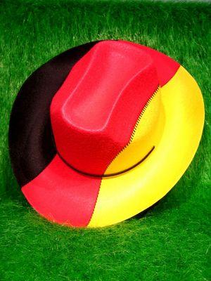 Deutschland Fanartikel Cowboyhut in BRD farben