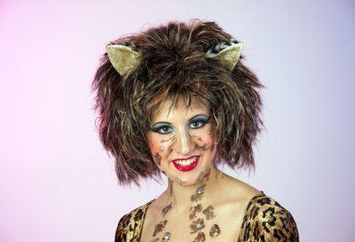 Katzen Perücke für Erwachsene Perücke Karneval