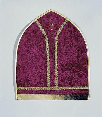 Bischofmütze weinrot aus Samt Nikolaus Weihnachten