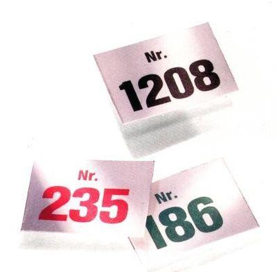 Aufklebenummern selbstklebende Nummern für die Auszeichnung