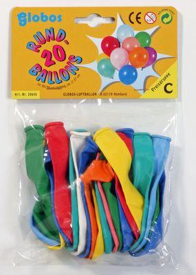 SB-Pack mit 20 sortierten Rundballons Karneval Fasching